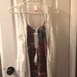 No Boundries Dress with cardigan